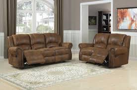 Reclining Living Room Sets Homelegance Quinn Reclining Sofa Set Bomber Jacket Microfiber