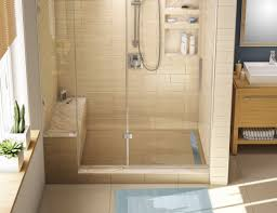 Bathroom Shower Stalls With Seat Tiled Shower Stalls With Seats Tile Designs