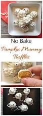 mummy truffles pumpkin spice cheesecake truffles halloween treat
