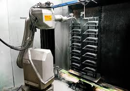 painting robot spray painting bensenville illinois apex plastic finishing co