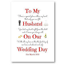 card for on wedding day unique personalised husband wedding day card