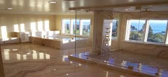 custom shower doors reflections in glass
