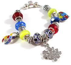 snake chain charm bracelet images Autism awareness snake chain charm bracelet png