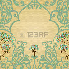 traditional floral pattern in victorian style place for text