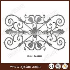 security ornamental aluminium wrought iron fence parts cast