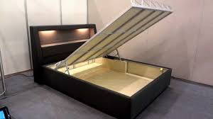 How To Build A Platform Bed Frame With Drawers by Storage Bed Frame Motorized Lift Full Automatic Mor Lale Mobilya