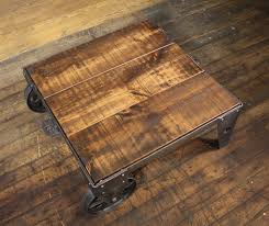 table coffee modern coffee table wood steel and iron cart industrial modern get back inc