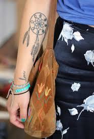small dreamcatcher tattoo upper wrist tattoomagz