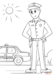 coloring pages for kids printable man page home police officer p