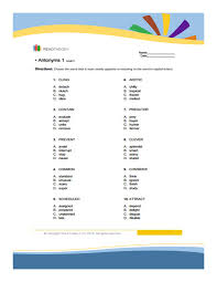 Worksheet 5 Double Replacement Reactions Source Of English Worksheet By Grade Or Levels Synonyms And