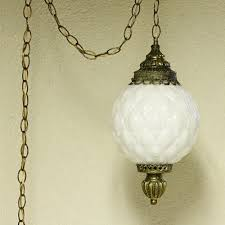 Retro Hanging Light Fixtures Vintage Hanging Light Hanging L Milk Glass Globe Chain