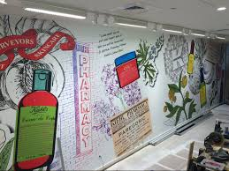 architectural and retail graphics now that s a wrap kiehl s wall mural kiehl s custom wall mural at the mall at university town center