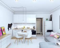cuisine blanche ouverte sur salon amenagement coin cuisine comment amacnager un petit appartement