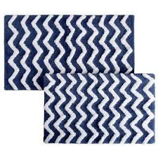 Navy Blue Bathroom Rug Set Blue Bath Rugs Mats Mats The Home Depot