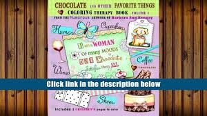 download chocolate and other favorite things coloring therapy