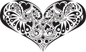 Design Black And White Heart Design In Black And White Royalty Free Clip Art Illustration