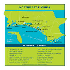 Map Of Florida Gulf Side by Northwest Floridavacation Guide Vie Magazine