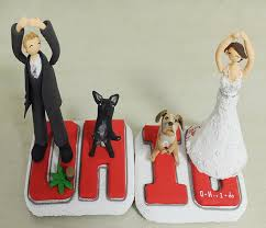 ohio couple custom wedding cake topper cup cake topper 2245503