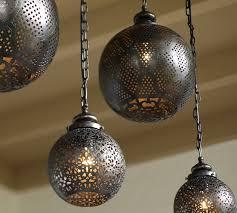 moroccan ceiling light fixtures moroccan indoor outdoor pendant pottery barn