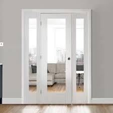 white easi frame room divider doors system single pattern 10 clear