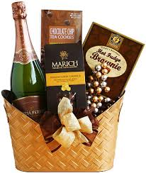 chocolate gift basket golden chagne chocolate gift basket