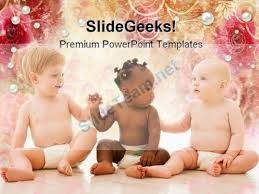 three babies family powerpoint templates and powerpoint
