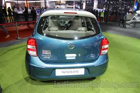 nissan micra 2016 nissan micra active t20 edition rear at 2016 auto expo indian