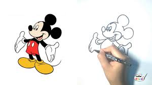 mickey mouse how to draw mickey mouse step by step youtube