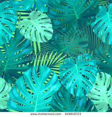 leaves palm tree seamless pattern vector stock vector 365713739