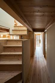 small house by hitotomori has custom made plywood interior