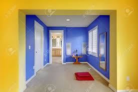 Blue And Yellow Bedroom Blue And Yellow Home Meditation Area Between Bathroom And Bedroom