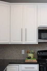 Another Example Of Updated Stock Oak Kitchen Cabinets With New - Enamel kitchen cabinets
