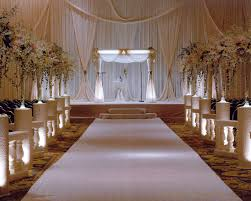 elegant white hotel ceremony decor wedding ceremony isle