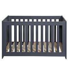 chambre bébé écologique lit bébé bois massif 60x120 gris acier aarometm01b