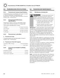transmission specifications transmission maintenance