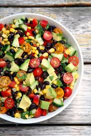 hydrating salad recipe salad black bean corn and avocado salad