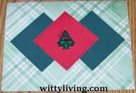 christmas card making ideas simple tree button card handmade