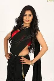 madhumitha models in saree pinterest black saree telugu