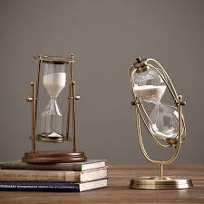 aliexpress com buy nordic simple retro metal rotating hourglass