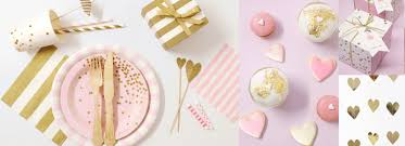 pink and gold party supplies pink gold shop unique and decorative party supplies and baking