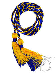 honor cords royal gold intertwined honor cords for high school homeschool