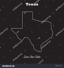 Texas Map Outline Texas Outline Map Stroke Name State Stock Vector 279548264