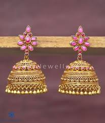 big jhumka gold earrings silver jhumkas ko jewellery