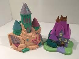 vintage polly pocket mermaid castle cinderella disney trendmaster