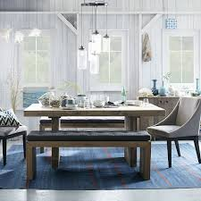 dining room sets with bench emmerson reclaimed wood dining table reclaimed pine elm