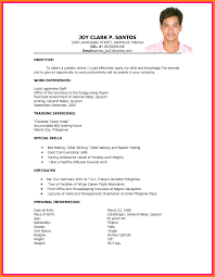 Resume Sample For Housekeeping Sample Resume For Fresh Graduate In Hrm Augustais