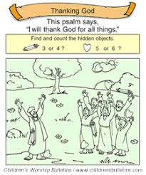 children s church bulletins about thanksgiving children s