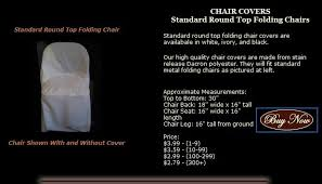 Metal Chair Covers Chair Covers Standard Round Top Folding Chairs In Chair Cover From