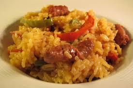 cuisiner poivron riz aux merguez et poivrons le de cuisine en bouche