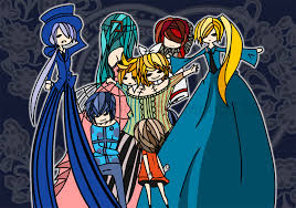vocaloid halloween monster party night vocaloid rin len meiko kaito and miku